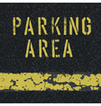 Parking area sign on asphalt vector