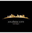 Atlantic city new jersey skyline silhouette vector