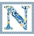 Blue letter n vector