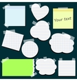 Set of different stickers vector