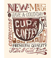 Watercolor coffee poster typography background vector