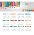Calendar 2015 year with colored pencils vector