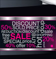 Sale discount advertisement background vector