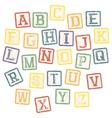 Baby blocks alphabet vector