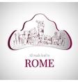 Rome city emblem vector