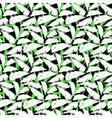 Grunge autumn pattern with fern leafs vector