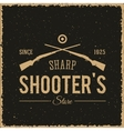 Sharpshooters store abstract vintage label or logo vector