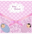 Baby shower for two babies vector