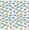 Seamless pattern with many flowers vector