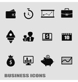 Business template finance web icons vector