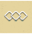 Three geometric numbered banners vector