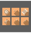 Flat icons for handmade vector