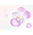 Flower violet watercolor vector