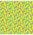 Grunge summer pattern with fern leafs vector