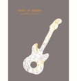 Magical floral guitar music silhouette vector