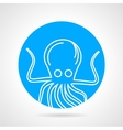 Octopus abstract round icon vector