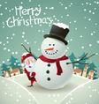 Santa claus and snowman vector
