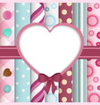 Scrapbook layout with cut out heart vector