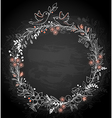 Frame of flowers and birds on a black background vector
