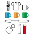 Promotional gift templates vector