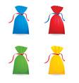 Of set christmas or birthday colour sacks vector