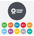 Video chat sign icon webcam video talk vector