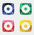 Speaker icon abstract triangle vector
