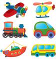 Cartoon transport toys vector