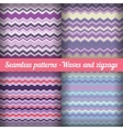 Waves and zigzags - set of seamless patterns in vector