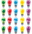 Light bulbs with tree vector