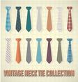 Vintage neck tie collection vector