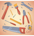 Set of different tools vector
