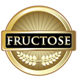 Fructose gold label vector