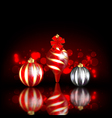 Dark christmas background vector