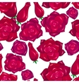 Seamless pattern of red roses vector