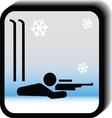 Winter icon -rifle vector