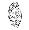 Sketch of an owl bird vector