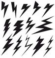 Flat sign of lightning vector