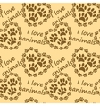 I love animals pattern vector