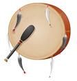 Tambourine american indians vector