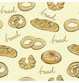 Seamless wallpaper with bread vector