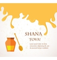 Happy new year hebrew rosh hashana greeting card vector