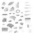 Set of hand drawn pencil strokes vector