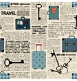 Imitation of newspaper with suitcases and word vector