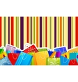 Colorful shopping bag vector