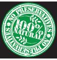 Grunge no preservatives 100 percent natural rubber vector