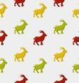 Abstract triangular goat vector