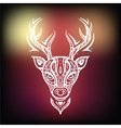 Deer head ethnic background vector