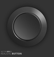 Plastic button vector