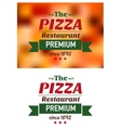 Emblem for pizza restaurant in red and green vector